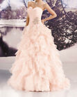 Pink Organza Quinceanera Pageant Dress Prom Ball Gown Wedding Dress Size Custom
