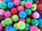30pcs x 16mm - 20mm  Smooth Shinning Acrylic Beads In Many Colours Crafts Making