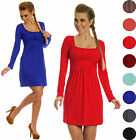 Glamour Empire. Women's Jersey Dress. Empire Waist Square Neck Long Sleeve. 931