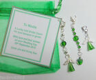 Lucky Green Irish Bridal Charm made with Swarovski Element Crystals +Gift Card