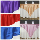 """15 Pack 60"""" Square SATIN Table Overlays Toppers Wedding Wholesale Party Supplies"""