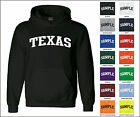 State of Texas College Letter Adult Jersey Hooded Sweatshirt