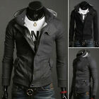 Top Design 2013 New Men's Slim Sexy Causal Zipper Hoody Jacket Coat 4 sizes S~XL