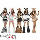 Ladies Fever Animal Fancy Dress Costume Hen Night Party Sexy Clubwear Bootcovers