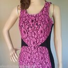 NEW Pink Lace Dress ONLY $8 Stretchy Clubbing Party Ladies Size 8 10 12 14