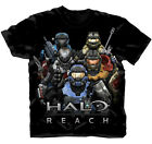 T-Shirt Tee HALO REACH NEW Group Pose Team (MEN/Adult) Black Licensed 83-301-415