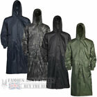 Mens Waterproof LONG Rain Jacket Coat Kagoul Wet Work Army Military Fishing Mac