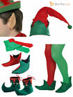 Adult Christmas Elf Fancy Dress Santa's Little Helper Costume Mens Ladies Outfit