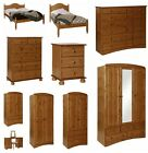 Scandi White MDF and Pine Bedroom furniture, wardrobes, chest of drawer dressing