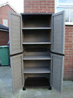 Starplast 6ft Plastic Storage Utility Shed Cabinet Shelves Garden Garage Tools