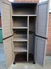 6ft Plastic Garden Storage Utility Shed Cabinet With Shelves Free Delivery