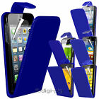 BLUE PU LEATHER FLIP CASE COVER & LCD PROTECTOR FOR VARIOUS MOBILE PHONES