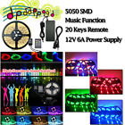 3528/5050 SMD/RGB 5M 300 LED Strip Light Ribbon Tape Roll Waterproof IP65 12V