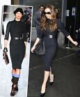 Black Cool Half Sleeve Sexy Lady Women's Celebrity Slim Fit Party Cocktail Dress