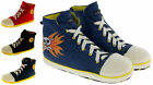 Mens Novelty Slippers High Hi Tops Trainers Slipper Boots Sz Size 7 8 9 10 11 12