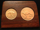 BIRTHDAY gift/present Jarrah plaque w/ original pennies and/or halfpennies