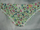 PRIMARK NO SECRET SEXY SILKY FRILLY VINTAGE FLORAL PRINT KNICKERS PANTS-BNWT