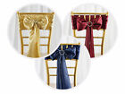 200 Cheap Satin CHAIR SASHES Bows Ties Wedding Reception Decorations Wholesale