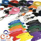 Rigid ID card holder and lanyard with metal clip and safety break - Free Postage