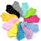 Wholesale Lots Cute Love Peach Heart Printed Cotton Invisible Boat Socks