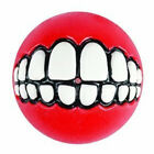 "GRINZ BALL SMALL 1.75"" Funny Smile Dog & Puppy Rubber Treat Fetch Ball Toy"