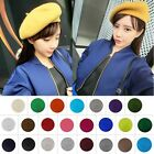 Women Multicolor Faux Woolen Fashion Sweet French Beret Newboy Hat Cap Beanie