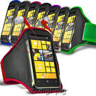 COLOUR SPORTS ARMBAND STRAP POUCH CASE AND EARPHONE FOR NOKIA LUMIA MOBILES