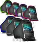 COLOUR SPORTS ARMBAND STRAP POUCH CASE AND EARPHONE FOR MOST BLACKBERRY MOBILES