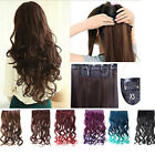 """26"""" Full Head Clip in Hair Extension Long Ponytail Supreme Neon Tangle Curly NEW"""