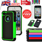 Heavy Duty Silicone Rubber Hard Case Cover For iPhone 5 5G 5S Free Film&Stylus