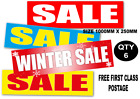 horizontal  Sale posters and signs 1000mm x 250mm x 6 posters you choose colours
