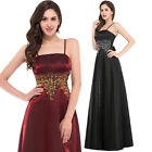 Noble Spaghetti strap Evening Formal Party Ball Gown Prom Bridesmaid Long Dress