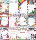 20 Childrens Party Birthday Invitations with Envelopes - Choice of Designs