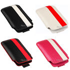Leather Pull Up Mobile Phone Case Cover Pouch For Apple iPhone 4S, 4, 3Gs, 3G