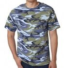 BLUE WOODLAND CAMO Code V Camo Army Camouflage Hunting Cool Military T-Shirt