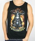Ned Kelly Mens Singlet - Motorcycle Rider Design! S, M, L, XL, XXL & XXXL! NEW!