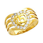 10K Gold Sweet Quincea  era 15 A  os Ring with 16 Clear Round Cubic Zirconia