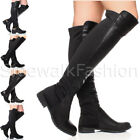 WOMENS LADIES LOW HEEL QUILTED RIDING STIRRUP BRIDLE ZIP CALF BOOTS SIZE