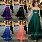 Sexy Beaded Chiffon A line Bridesmaids Dresses Evening Prom/Party Gowns SZ 6-26