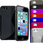 Grip Wave S-Line Soft Silicone TPU Gel Skin Case Cover For APPLE IPHONE 5 5S 5C