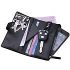 Men's Genuine Leather Wallet Purse Money Holder Keychain Zipper Buckle Closure