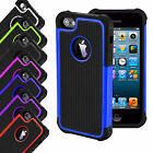 SHOCK PROOF HARD DUAL LAYER DEFENDER SILICON CASE COVER FOR IPHONE SE 5 5S (l29)