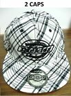 2 Plaid Black, White & Gray Dickies Logo Hat Embroidered Caps - Sizes S/M & L/XL