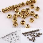 150pcs Antique Silver/Gold/Bronze Tone Spacer Metal Beads Jewelry Findings 5mm