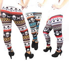NEUSexy Leggins mit Totenkopf Muster Strickleggins Hipster Winter Crazy Leggings
