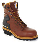 Mens Carhartt Logger Boots Waterproof Vibram Steel Toe Medium Wide Width CML8220