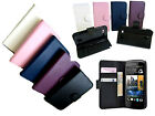 For HTC Desire 500 506e Book Flip Leather Carry Case Cover Pouch Protector New
