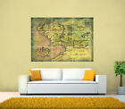 Lord Of The Rings, Middle Earth Map GIANT Poster,various sizes up to 49.6''x35''