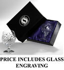 NEW HAND CUT BRANDY GLASS PAIR Luxury Box Superb Personalised Gift ENGRAVED FREE