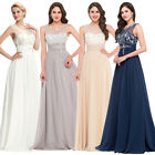 Long Chiffon Evening Formal Party Ball Gown Prom Bridesmaid Bridal Wedding Dress